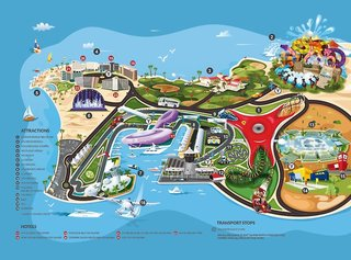 Hotel Crowne Plaza Abu Dhabi - Yas Island Landkarte