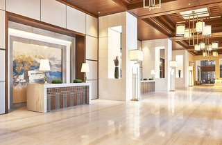 Hotel Hilton Dubai Al Habtoor City Lounge/Empfang