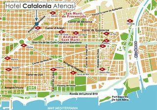Hotel Catalonia Atenas Landkarte