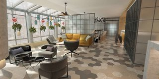Hotel NH Hamburg Mitte Lounge/Empfang