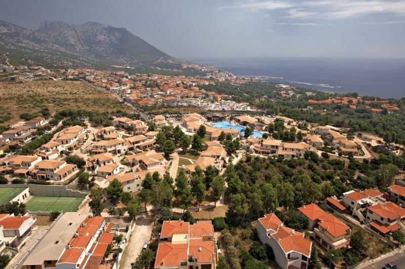 Cala Gonone Beach Village Luftaufnahme