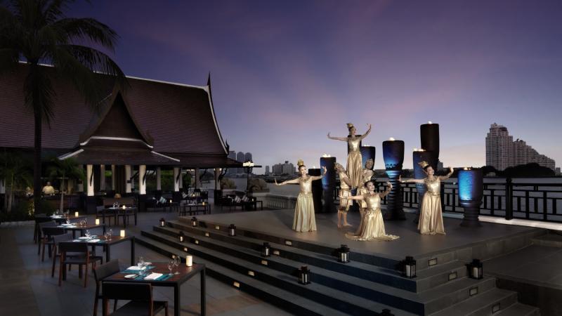 Anantara Riverside Bangkok Resort Terrasse