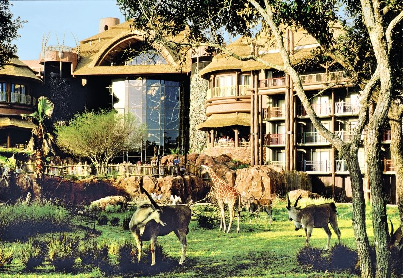 Disney´s Animal Kingdom Lodge Außenaufnahme