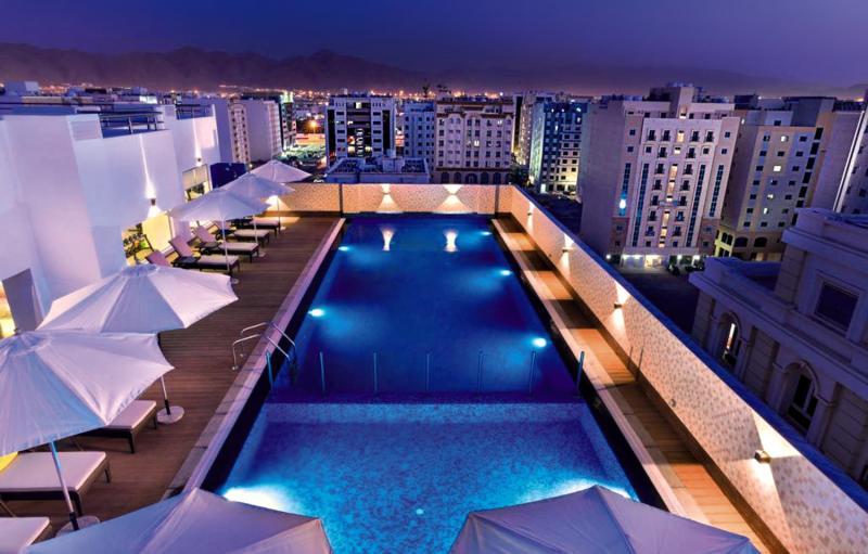 Centara Muscat Hotel Oman Terrasse